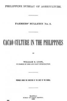 Cacao Culture in the Philippines by William S. Lyon