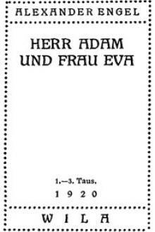 Herr Adam und Frau Eva