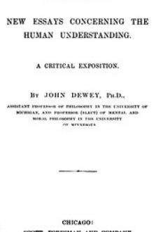 Leibniz's New Essays Concerning the Human Understanding by John Dewey