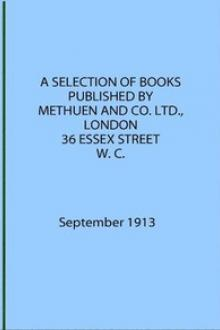 A Selection of Books Published by Methuen & Co