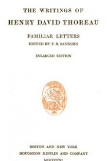 Familiar Letters by Henry David Thoreau