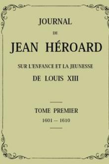 Journal de Jean Héroard – Tome 1