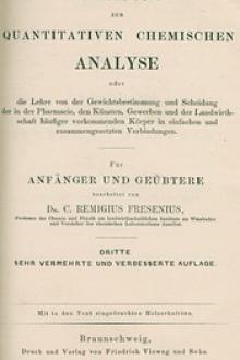 Anleitung zur quantitativen chemischen Analyse