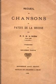 Recueil de chansons en patois de la Bresse