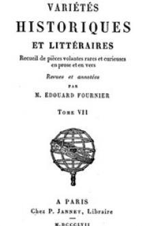 Variétés Historiques et Littéraires (07/10)