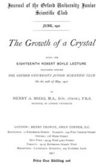 The Growth of a Crystal