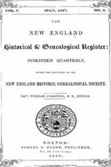 The New England Historical & Genealogical Register, Vol