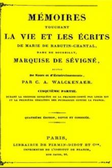 Mémoires touchant la vie et les écrits de Marie de Rabutin-Chantal,