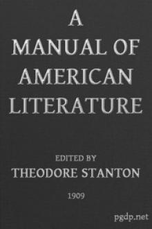 A Manual of American Literature