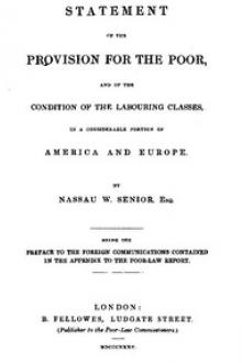 Statement of the Provision for the Poor, and of the Condition of the Labouring Classes in a Considerable Portion of America and Europe