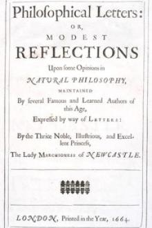 Philosophical Letters by Margaret Cavendish