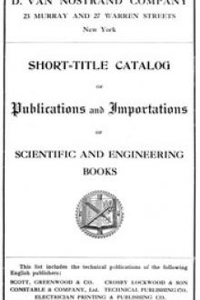 Short-Title Catalog of Publications and Importations of Scientific and Engineering Books