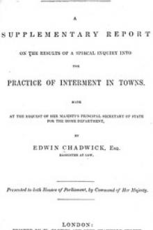Report on the sanitary conditions of the labouring population of Great Britain.