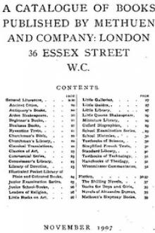 A Catalogue of Books Published by Methuen and Company