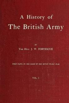 A History of the British Army, Vol. 1