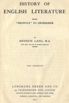 History of English Literature by Andrew Lang