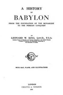 A History of Babylon, From the Foundation of the Monarchy to the Persian Conquest