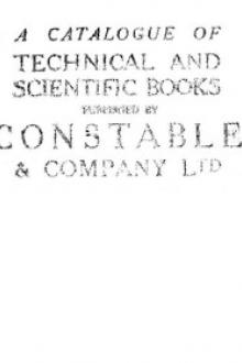 A catalogue of technical and scientific books published by Constable & Company Ltd
