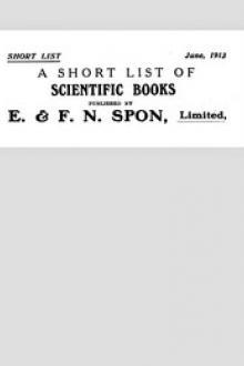 A Short List of Scientific Books June, 1913 Published by E