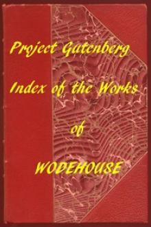 Index of The Project Gutenberg Works of Pelham Grenville Wodehouse