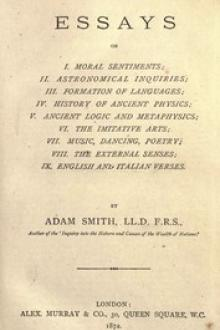 The Essays of Adam Smith by Adam Smith