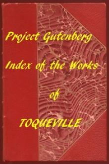 Index of the Project Gutenberg Works of Alexis De Tocqueville