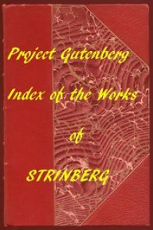 Index of the Project Gutenberg Works of August Strindberg by August Strindberg