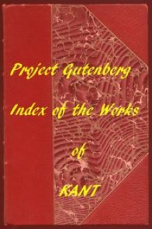 Index of the Project Gutenberg Works of Immanuel Kant by Immanuel Kant