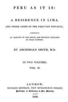Peru as It Is, Volume II (of 2) by Archibald Smith