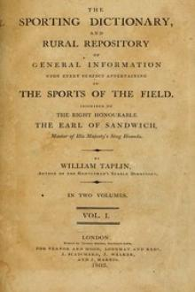 The Sporting Dictionary, and Rural Repository, Volume 1 (of 2) by Gregory Glyster