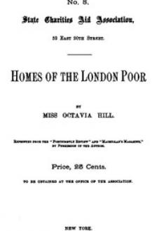 Homes of the London Poor by Octavia Hill