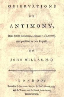 Observations on antimony by John Millar