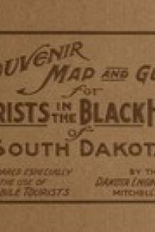 Souvenir Map and Guide for Tourists in the Black Hills of South Dakota by Mitchell, S. D. Dakota Engineering Company