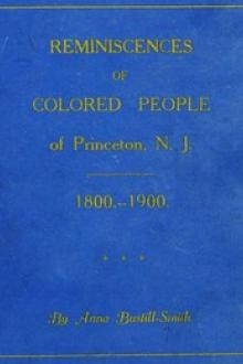 Reminiscences of Colored People of Princeton, N. J. by Anna Bustill Smith