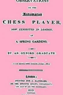 Observations on the Automaton Chess Player by Robert Gray