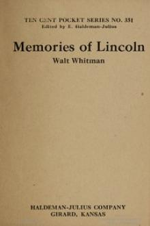 Memories of Lincoln by Walt Whitman