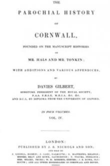 The Parochial History of Cornwall, Volume 4 by Unknown