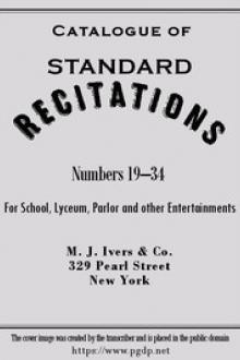 "Catalogue of ""Standard Recitations"" by Anonymous"