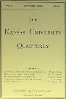 The Kansas University Quarterly, Vol by Various