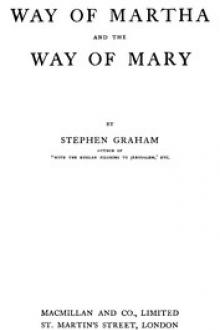 The Way of Martha and the Way of Mary by Stephen Graham