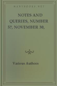 Notes and Queries, Number 57, November 30, 1850