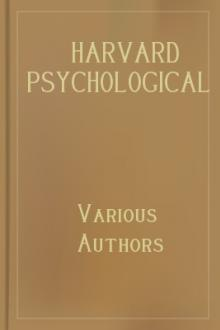 Harvard Psychological Studies, Volume 1 by Various Authors