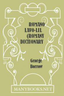 Romano Lavo-Lil (Romany Dictionary) by George Borrow
