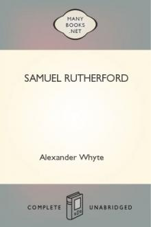 Samuel Rutherford by Alexander Whyte