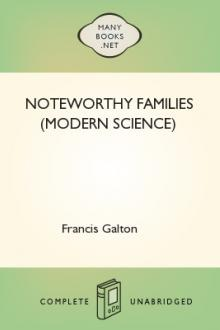 Noteworthy Families (Modern Science) by Edgar Schuster, Francis Galton