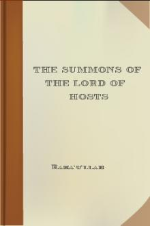 The Summons of the Lord of Hosts by Baha'u'llah