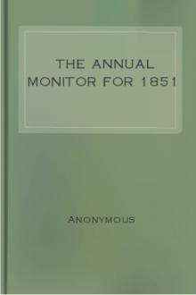 The Annual Monitor for 1851 by Anonymous