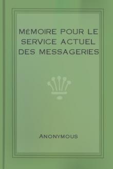 Mémoire pour le service actuel des messageries