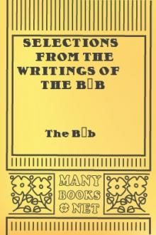 Selections From the Writings of the Báb by `Ali Muhammad Shirazi Bab