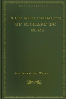 The Philobiblon of Richard de Bury by Richard de Bury